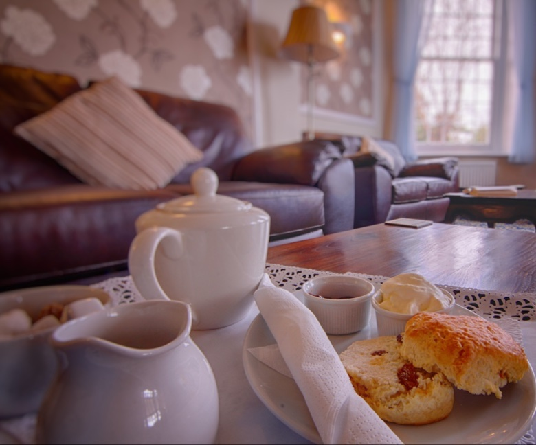 Cream Tea, Luccombe Manor Country House Hotel, SHanklin