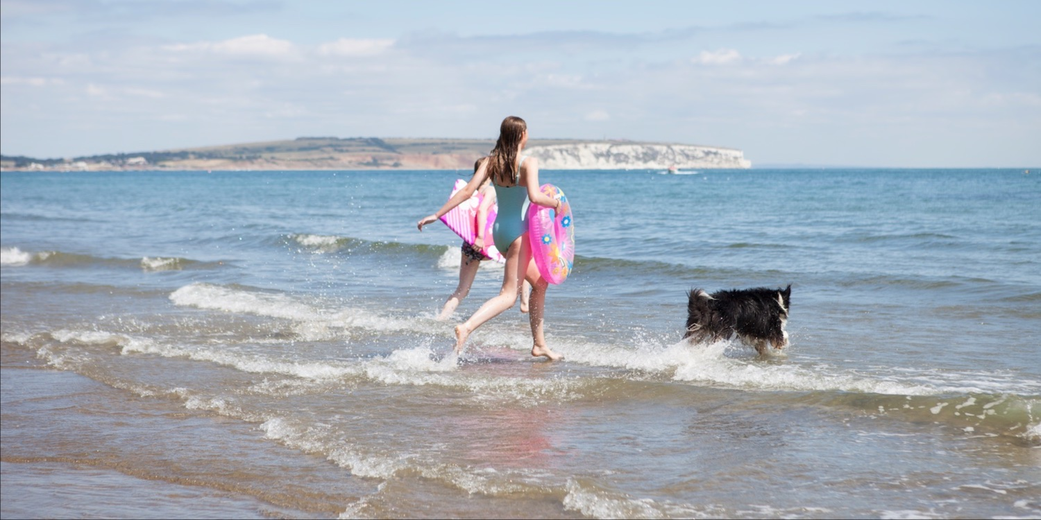 Dog Friendly Local Beach, Luccombe Manor Country House Hotel, Shanklin, Isle of Wight