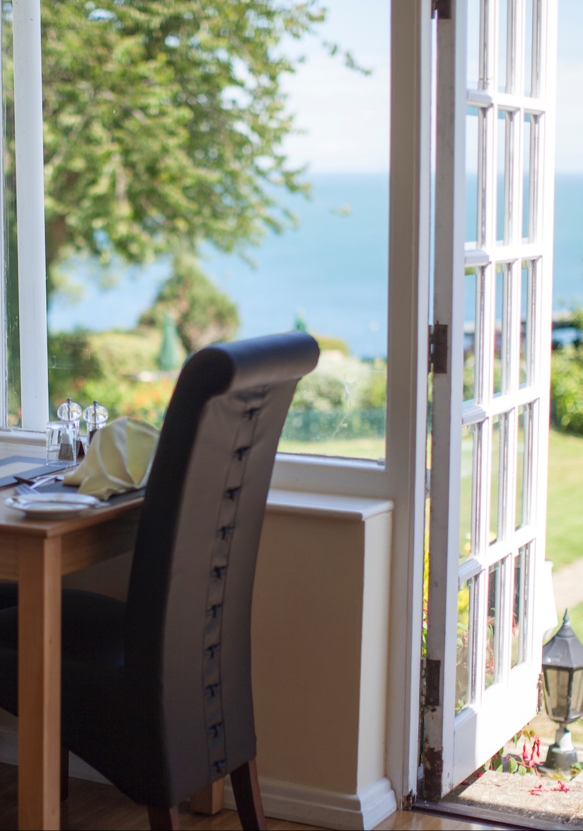 Food & Drink Service in the Appley Restaurant, Luccombe Manor Country House Hotel, Isle of Wight