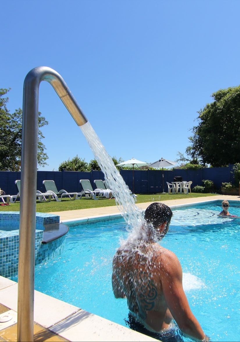 Outdoor Swimming Pool Facilities at Luccombe Manor Country House Hotel, Shanklin