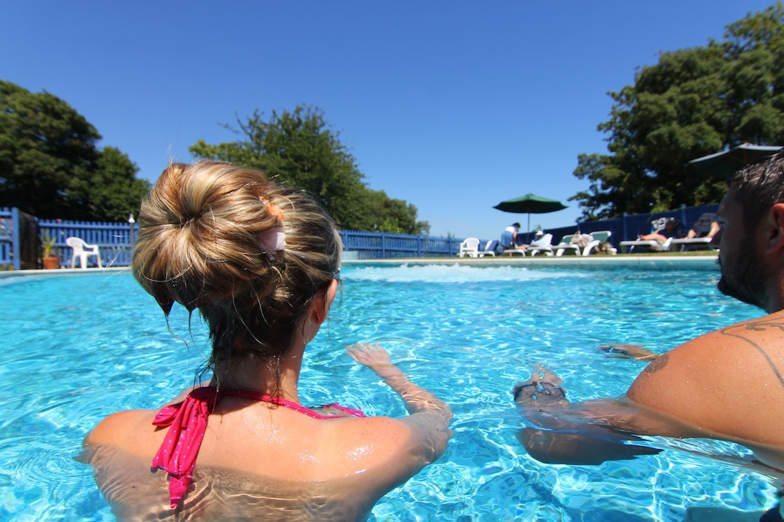 Outdoor Swimming Pool, Luccombe Manor Country House Hotel, SHanklin, Isle of Wight