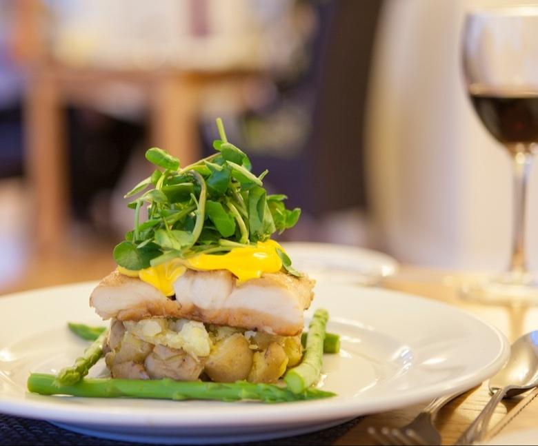 Sample Dinner Menu, Appley Restaurant, Luccombe Manor Hotel, Shanklin