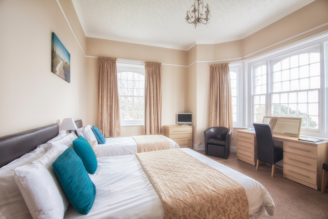 Seaview Bedroom, Luccombe Manor Country House Hotel, Shanklin, Isle of Wight