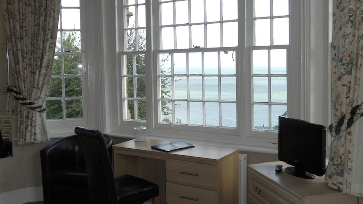 View of Sea, Sea View Bedrooms, Luccombe Manor Country House Hotel, SHanklin