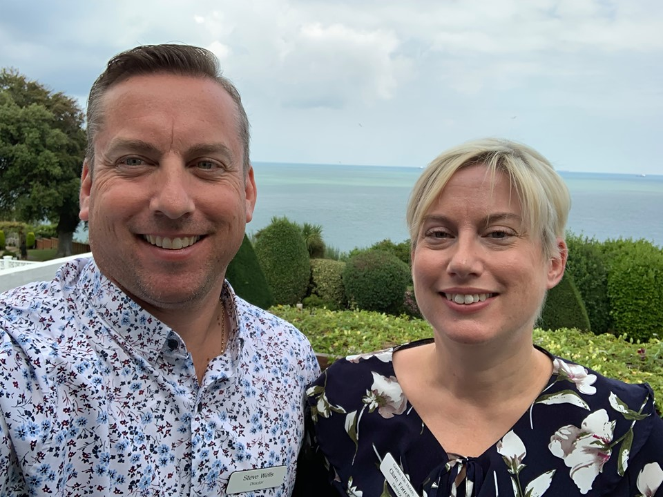 Steve and Clare, Directors, Garden Isle Hotels, Isle of Wight